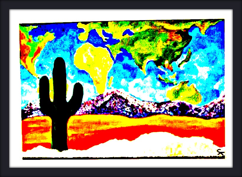 2008. Now I know why I felt compelled to paint the desert.