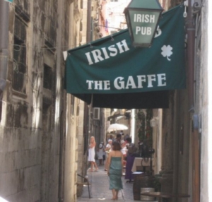Don't confuse The Gaffe with the Irish pub on the corner. That one is Karaka and there is an albino waiter there who is the meanest waiter I've ever met. He has a personality disorder I think. Photo: Global Party Guide