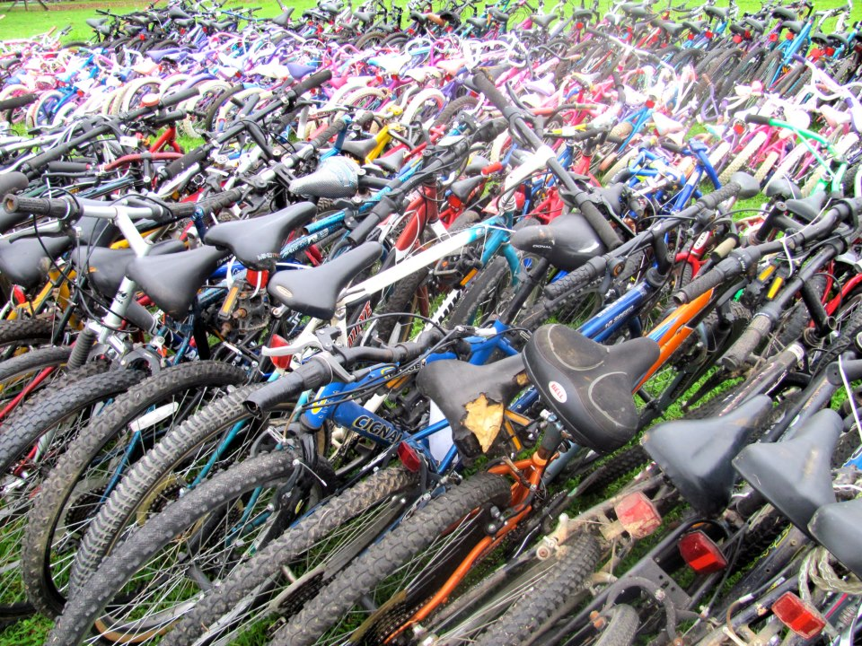 Some of the bicycles we sorted and helped distribute to a very poor district in rural Costa Rica.