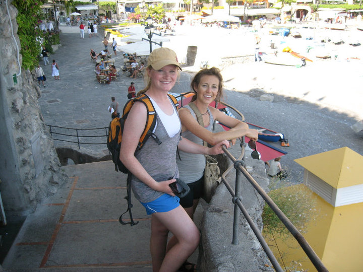 In the Cinque Terre, roughly 60-ish days into our trip. We had no cell phones the entire time. Just a pair of walkie talkies!